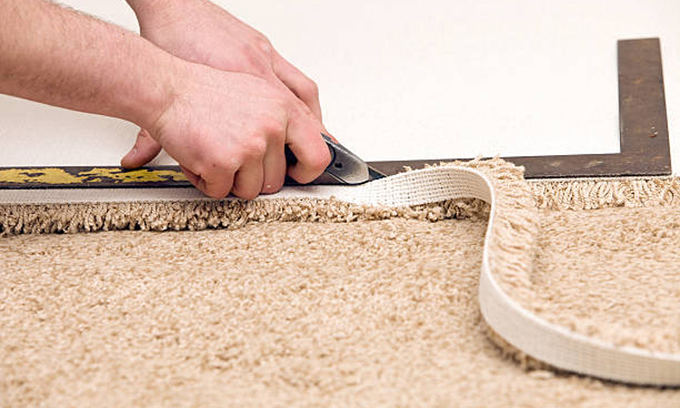 you can slice of old carpets